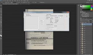 How to convert jpg layers into pdf